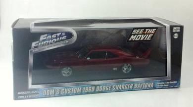 Greenlight F&F Dom's Custom Dodge Charger Daytona