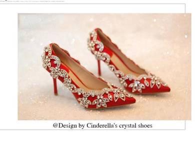 Red diamond high heels prom wedding 9cm RBH0180