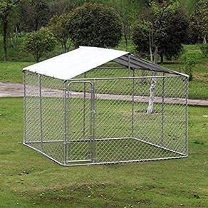 DURABLE LARGE CHAIN LINK KENNEL 4ft