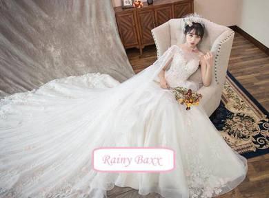 White wedding bridal prom gown dress RB0528
