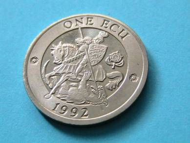 One Ecu coin 1992 – England