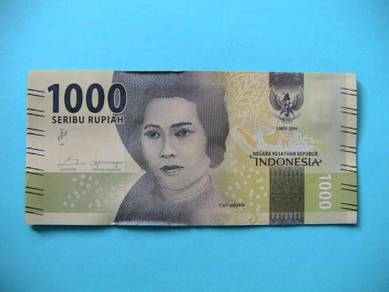 1000 Rupiah Indonesia edisi 2016 EF/AU
