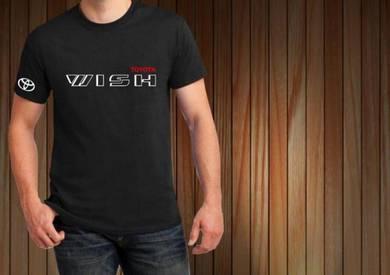 Tshirt Baju TOYOTA WISH T1 TSV Siap Pos Laju