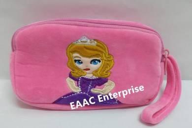 Cute Cartoon Princess Sofia Plush Pencil Box Case