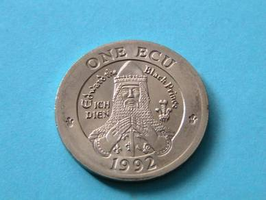 One Ecu coin 1992 – Wales