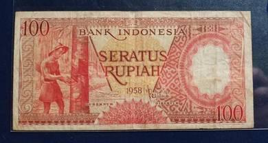 Indonesia Seratus Rupiah 1958