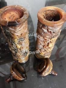 Yellow Highland Yak Horn Curving