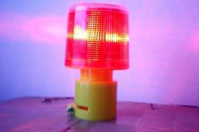 Pedada Red Solar Warning Signal Light