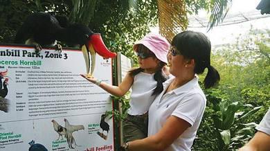 Promotion ticket Aquaria, Zoo negara, Bird park