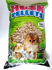 Husk Pellet 3kg Cat Litter Pasir Kucing Animal Bed