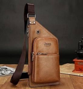 Genuine Leather Jeep Men's Sling Bag