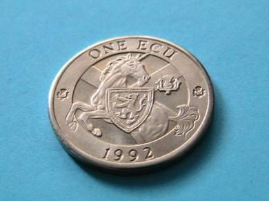 One Ecu coin 1992 – Scotland