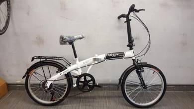 Bicycle folding vogue 20er 6sp putih
