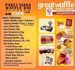 Pakej Perniagaan Waffle Rio Master