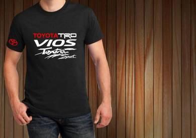 Tshirt Baju TOYOTA VIOS TRD T5 TSV Siap Pos Laju