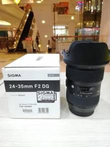 Sigma 24-35mm f2 dg hsm art lens-canon (98% new)