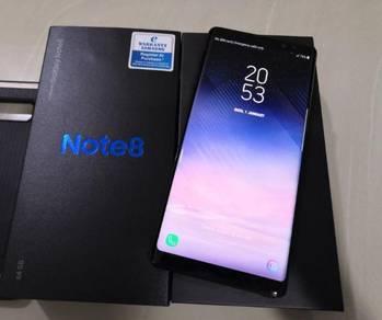 Samsung Note 8 Midnight Black Ori SME