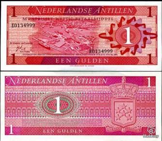 Netherlands Antilles 1 Gulden 1970 P-20 UNC