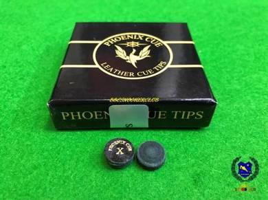 Phoenix Thailand Black Leather Snooker Cue Tip X