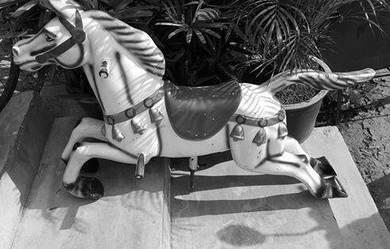Vintage Pony Fun Fair RARE coke paddle toy sign
