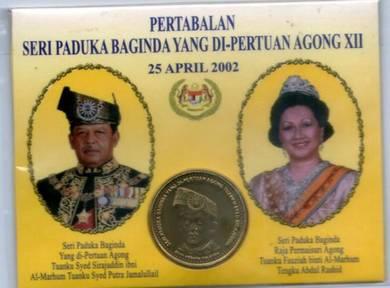 Coin card DYMM Agong XIV 2002