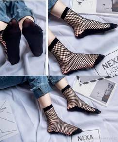 Fishnet Net Socks Mesh Lace High Ankle Hot Punk