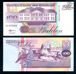 Suriname 100 gulden 1998 p 139 unc