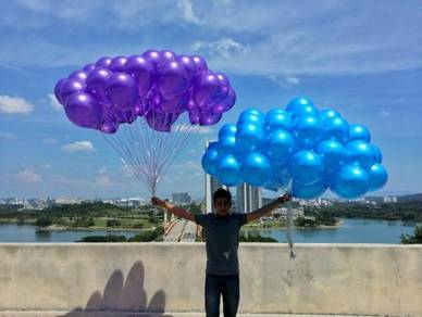 Purple and blue balloon helium
