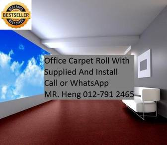 Modern Plain Design Carpet Roll With Install 58TY