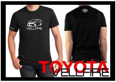 Tshirt Baju TOYOTA VELLFIRE T3 TSV Siap Pos Laju