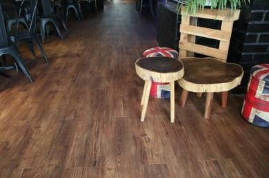 Vinyl Floor Lantai Timber Laminate PVC Floor Q344