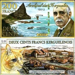 Kerguelen 200 francs 2012 polymer unc