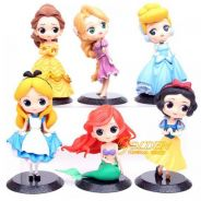 Disney Princess Cute doll Cartoon Anime Figurines