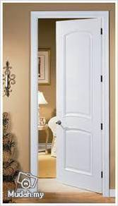 White Wooden Room door