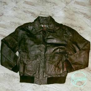 Jacket Leather Vtg Wilsons