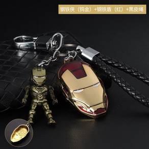 Iron man Captain America chibi keychain accesory