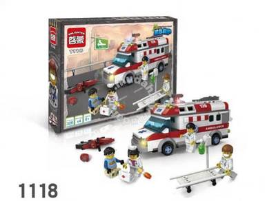 EN 1118 Emergency Rescue Ambulance (bricks)