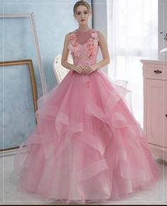 Pink wedding bridal prom dress gown RB0422