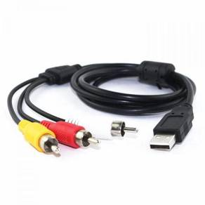 USB to RCA AV cable USB to 3RCA audio and video ca