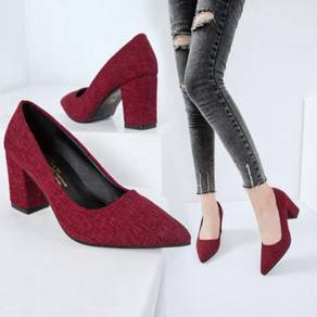 7940 Casual Suede Fabric Pointed High-heeled