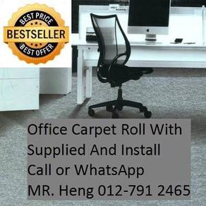 Classic Plain Design Carpet Roll with Install 24RC