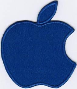 Apple Logo ROYAL BLUE Badge Iron On Patch
