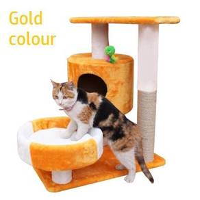 Gold Cat House Climbing Platform Sangkar Kucing
