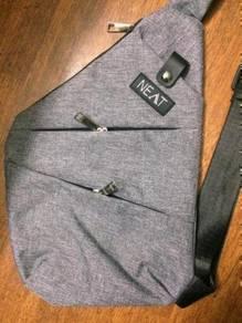 Men Shoulder Bag Grey