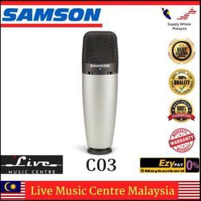 Samson c03 co3 multi-pattern condenser mic (c03u)