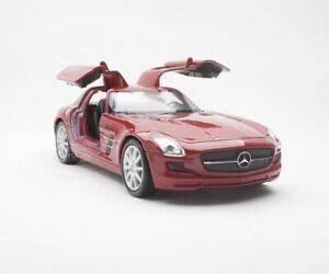 Welly (11cm) Mercedes Benz SLS AMG RED Sport Car