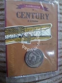 Medallion Coin Celebrating 100 yrs Aviation 2003