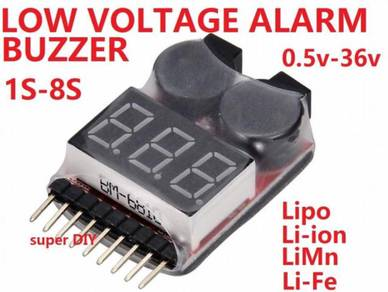 Li-ion Lipo Battery Low Voltage alarm buzzer 1s-8s