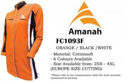 Baju Kemeja Korporat F1 Parti AMANAH VF1 Muslimah