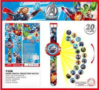 3D Digital Projection Watch Jam Tangan - AVENGER